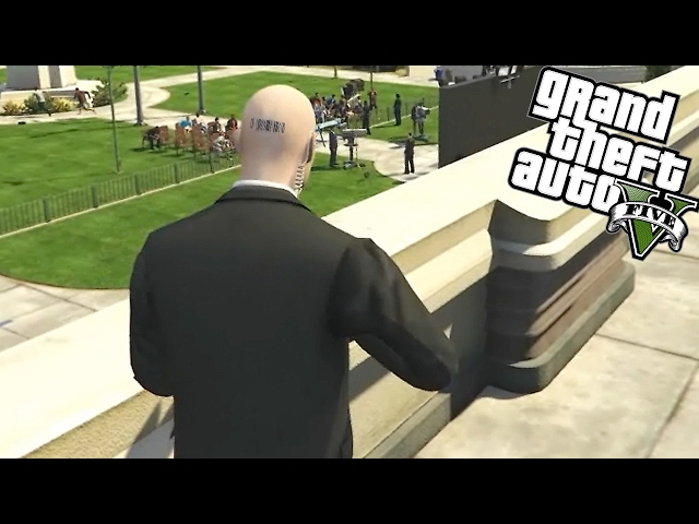 ASSASSINEI O PRESIDENTE! | GTA V (Hitman Mod)