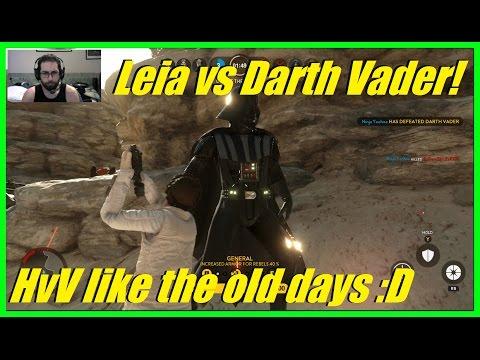 Star Wars Battlefront - Princess Leia vs Darth Vader! Father vs Daughter! HvsV like the old days!