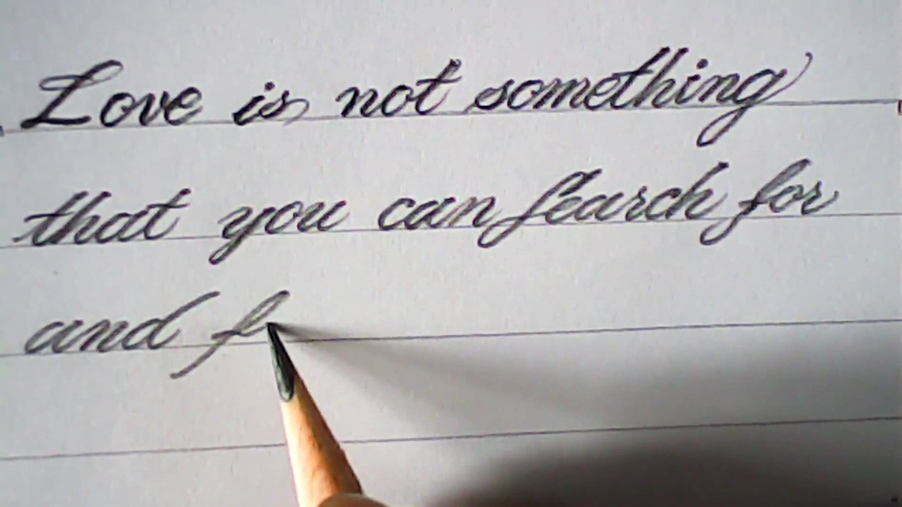Hand Writing With Pencil