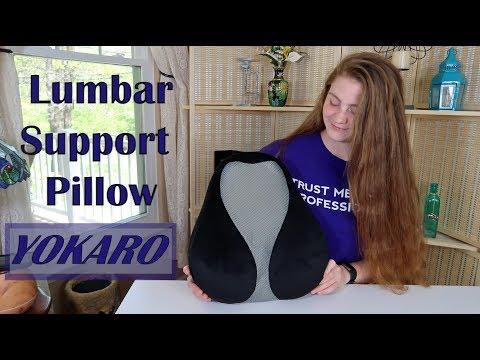 ⭐YOKARO LUMBAR SUPPORT PILLOW  (Relieve Back Pain)  MEMORY FOAM CUSHION REVIEW 👈