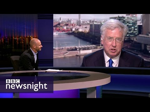 Sir Michael Fallon is challenged on the Conservative manifesto - BBC Newsnight