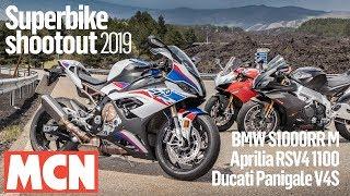 Superbike shootout 2019 - BMW S1000RR vs Aprilia RSV4 1100 vs Ducati Panigale V4S  | MCN