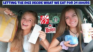 Letting the Dice Decide What We Eat for 24 Hours ~ Jacy and Kacy