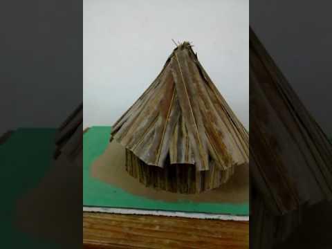 Amerindian hut  grade3 school project