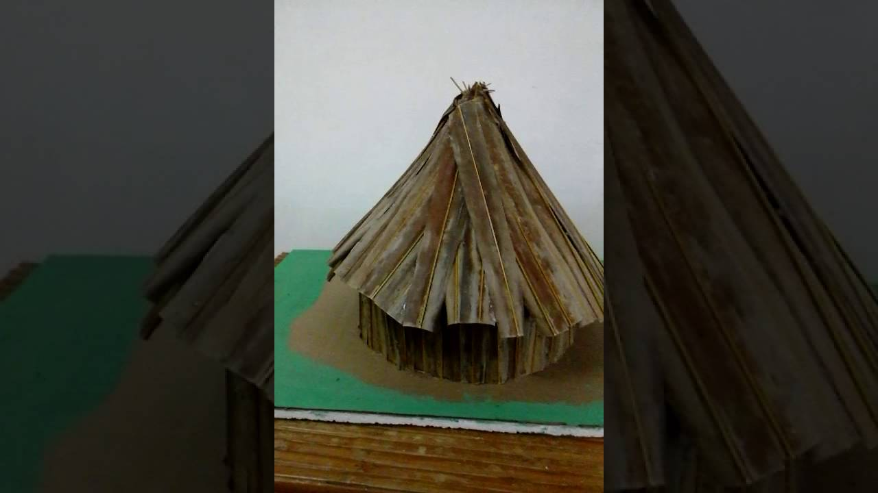 Amerindian Hut Grade3 School Project Youtube