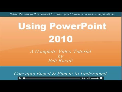 Microsoft powerpoint 2010: working together on office documents.