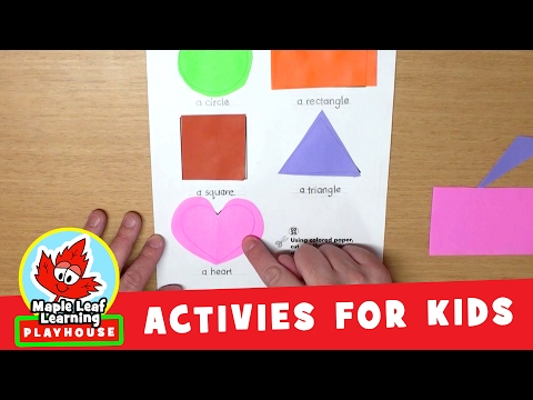 Shapes Activity for Kids   Maple Leaf Learning Playhouse
