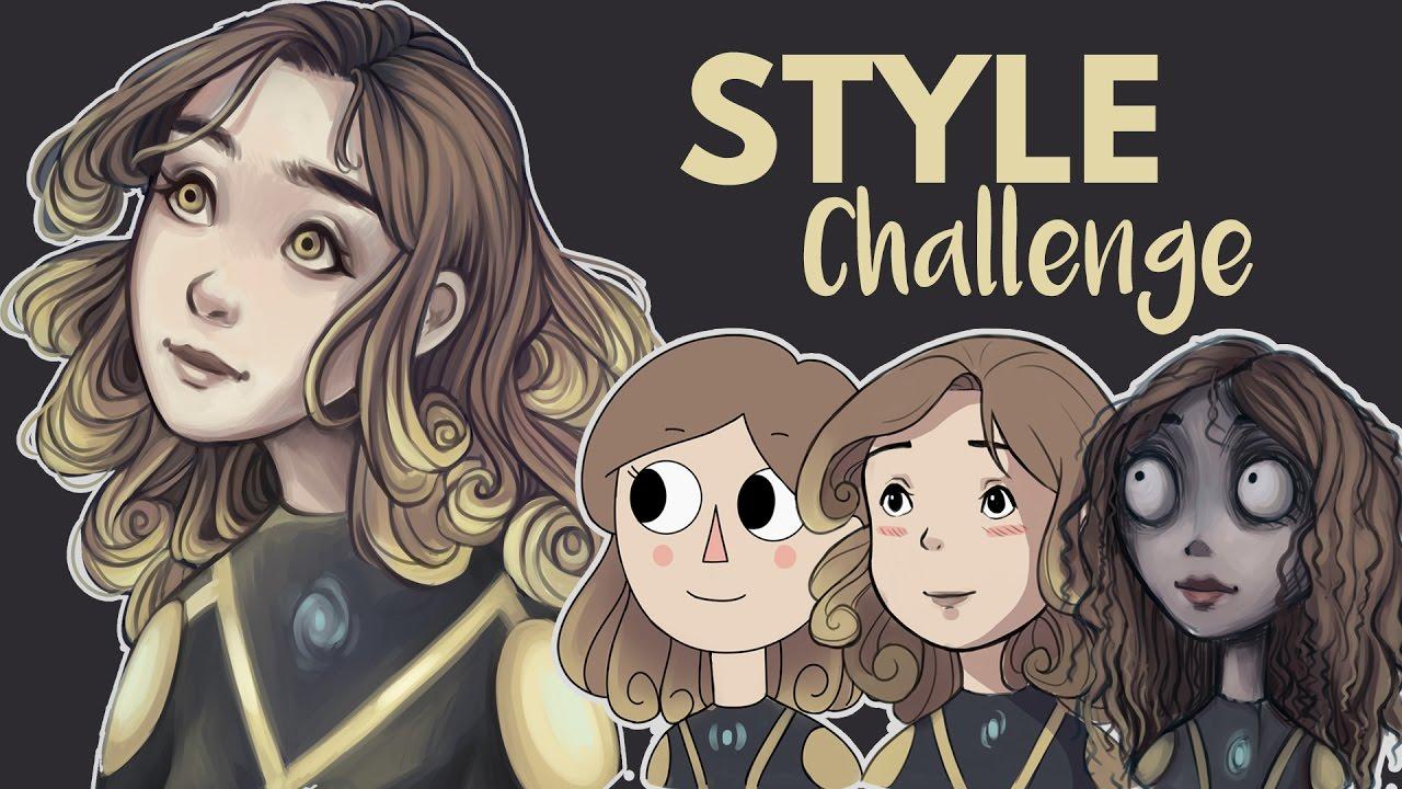 Character Design Challenge Masterchef : Art style challenge speedpaint youtube