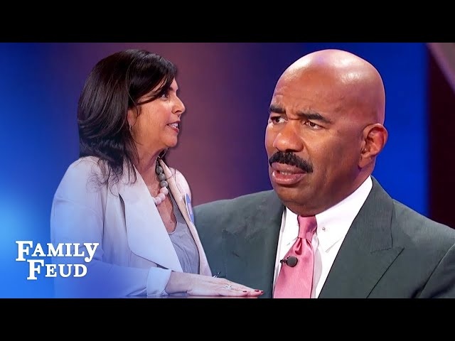 This is what she'd do if he shook her hand after a date... | Family Feud