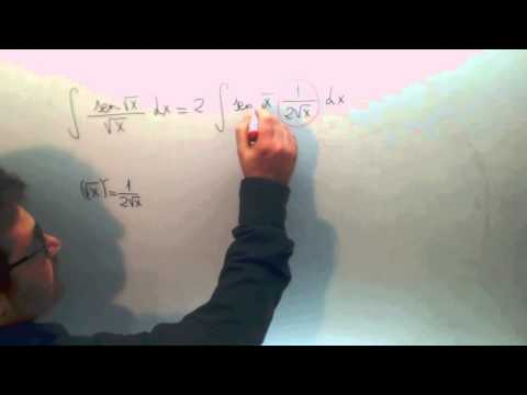 Integral seno raiz x partido raiz x Matematicas 2º Bachillerato Academia Usero Estepona