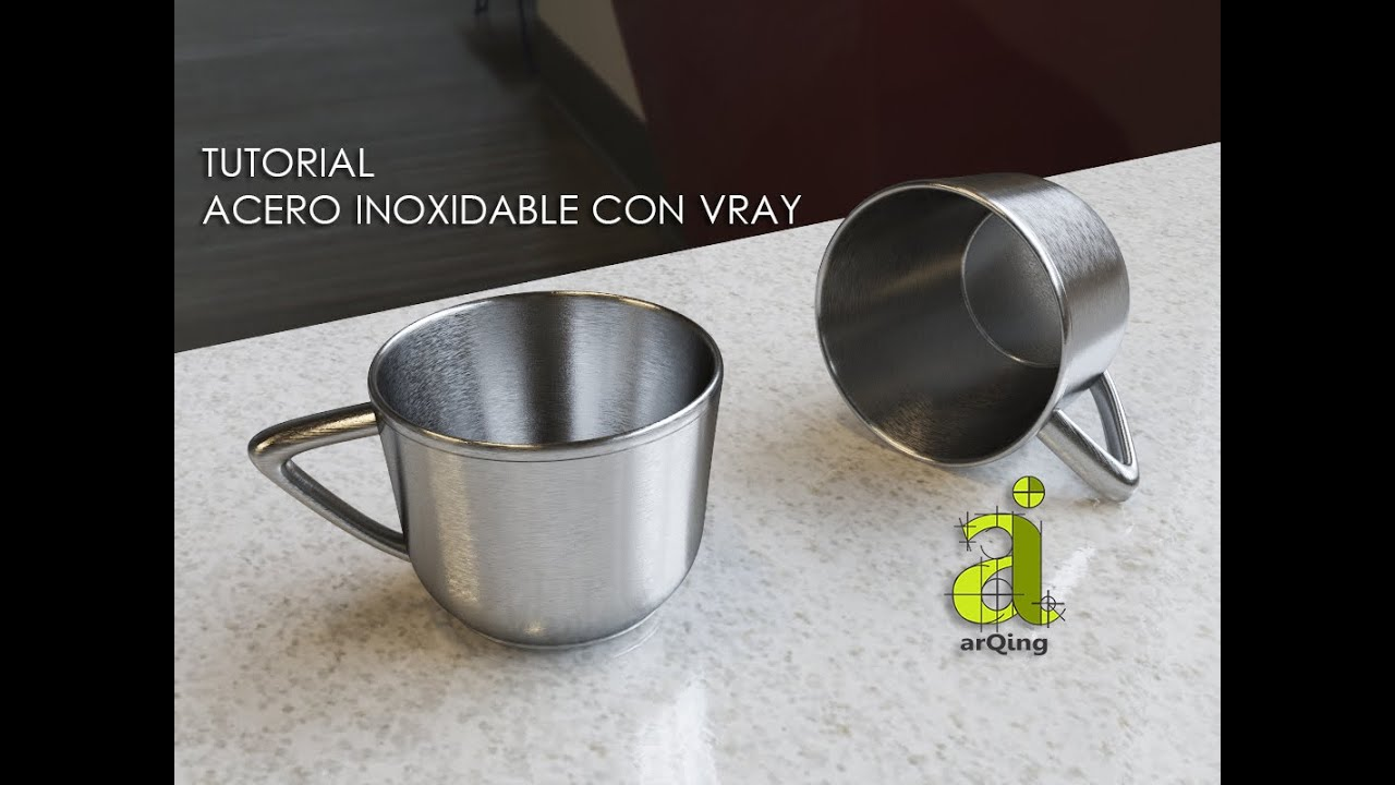 tutorial acero inoxidable con vray