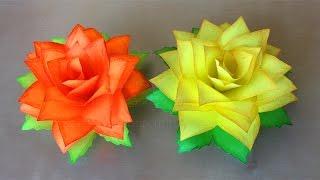 Basteln mit Papier: Rosen. DIY Blumen basteln mit Kindern. Origami Rose. Geschenke selber machen