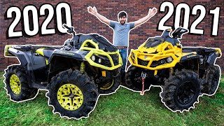2020 VS 2021 Can-Am OUTLANDER BEAT DOWN! Racing, MUD & Wheelies!