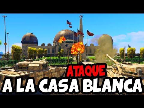3ra GUERRA MUNDIAL En GTA 5 - TOMAMOS LA CASA BLANCA , MÉXICO Y RUSIA Vs ESTADOS UNIDOS