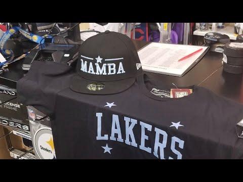 Laker Fans Flock Stores Buying Kobe Bryant Merchandise By Joseph Armendariz