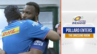 Pollard enters the dressing room after epic MI vs CSK chase | एमआइ बनाम सीऐसके | IPL 2021