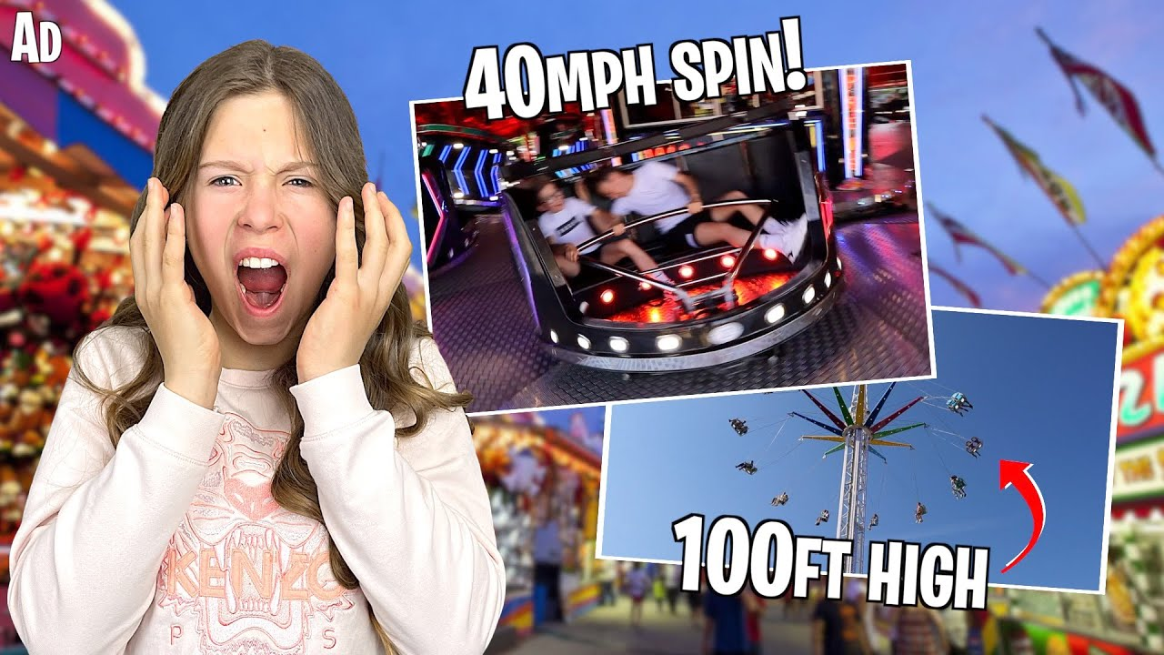 Spend The Day WITH US at the MOST INSANE FUN FAIR!! *FASTEST WALTZER FAIR RIDE