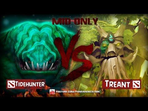 видео: tidehunter vs treant protector [Битва Героев мидонли в dota 2]