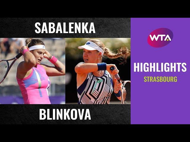 Aryna Sabalenka vs. Anna Blinkova | 2020 Strasbourg Second Round | WTA Highlights