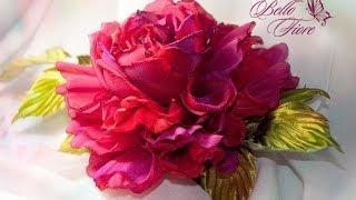 Цветы из шелка. Мастер класс «Пышная роза из шелка»(http://www.bello-fiore.ru/video/rose_red.htm Мастер-класс розы из шелка включает в себя все этапы в создании цветка. Мы вместе..., 2014-03-24T12:01:39.000Z)