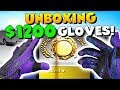 CS:GO - UNBOXING $1200 GLOVES! (Audio Warning)