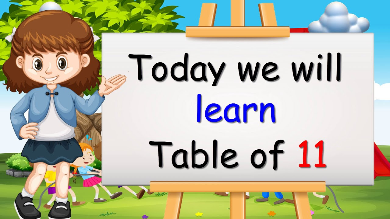 Download Learn Multiplication Table of Eleven 11 x 11 = 11 | 11 Times Tables | Kidditube Channel