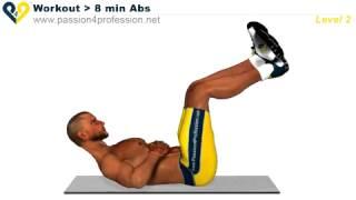 Abs workout Level 2 / 8分鐘練腹肌-等級2