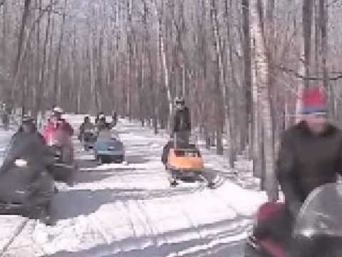 Vintage Snowmobile Run in Tamarack, MN