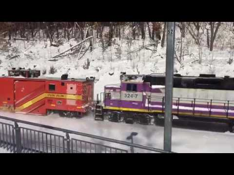 Snow clearing on the Fitchburg CR Line