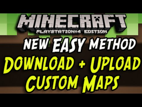 Minecraft PS Download And Upload Maps EASY NEW METHOD - Minecraft offline spielen ohne account download