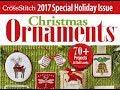 Flosstube #89 Just Cross Stitch 2017 Ornament issue flip thru!!