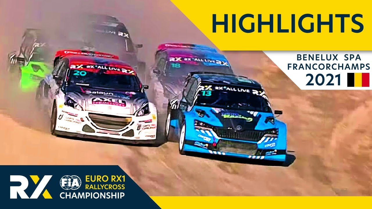 EURO RX1 Semi and Final Highlights : Benelux World RX of Spa Francorchamps 2021 : Belgium Rallycross
