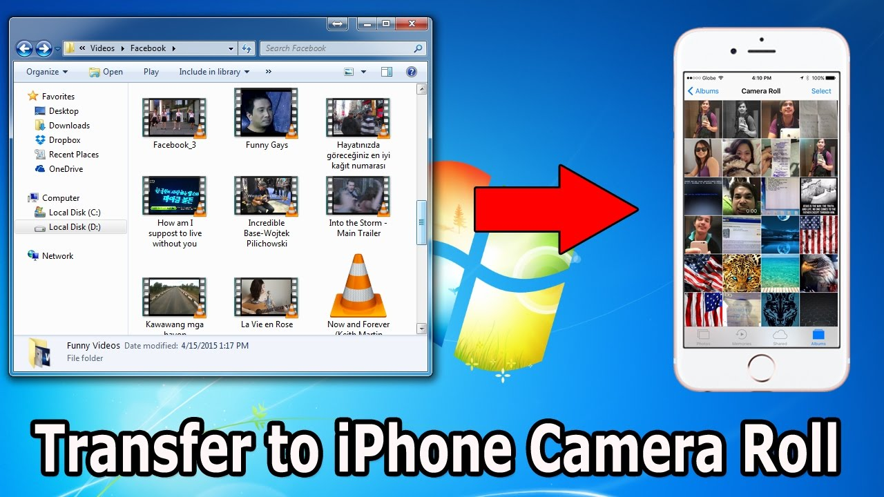 How to transfer photos/videos from computer to iphone ...