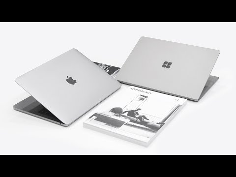 "Thumbnail: MacBook Pro 13"" (2017) vs Microsoft Surface Laptop - Full Comparison!"