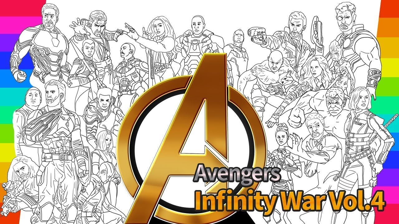 Marvel avengers infinity war coloring movie how to draw drawing and coloring pages