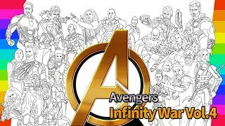 Marvel Avengers Infinity War Coloring Movie | How To Draw | drawing and coloring pages