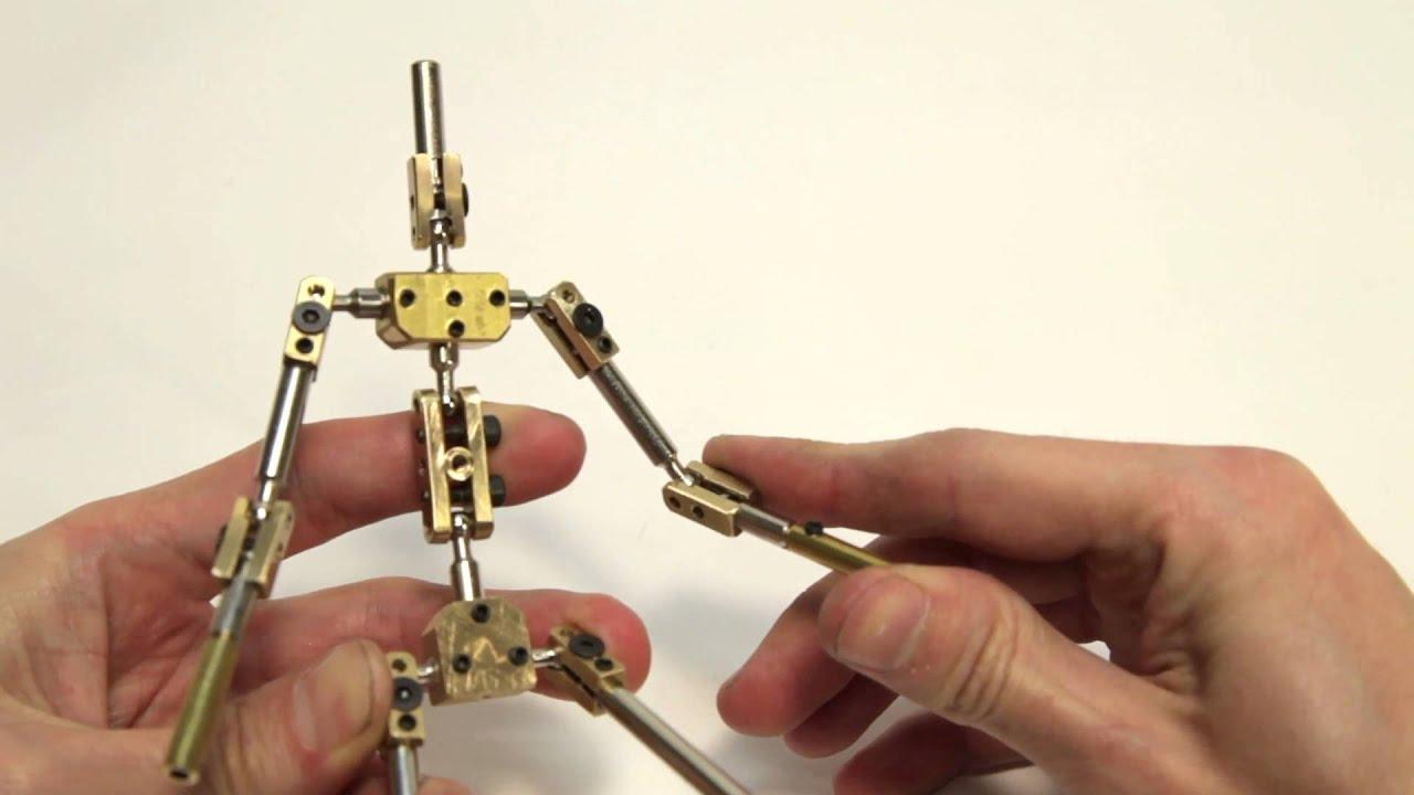 K1 - kinetic armatures stop motion skeleton unboxing - YouTube