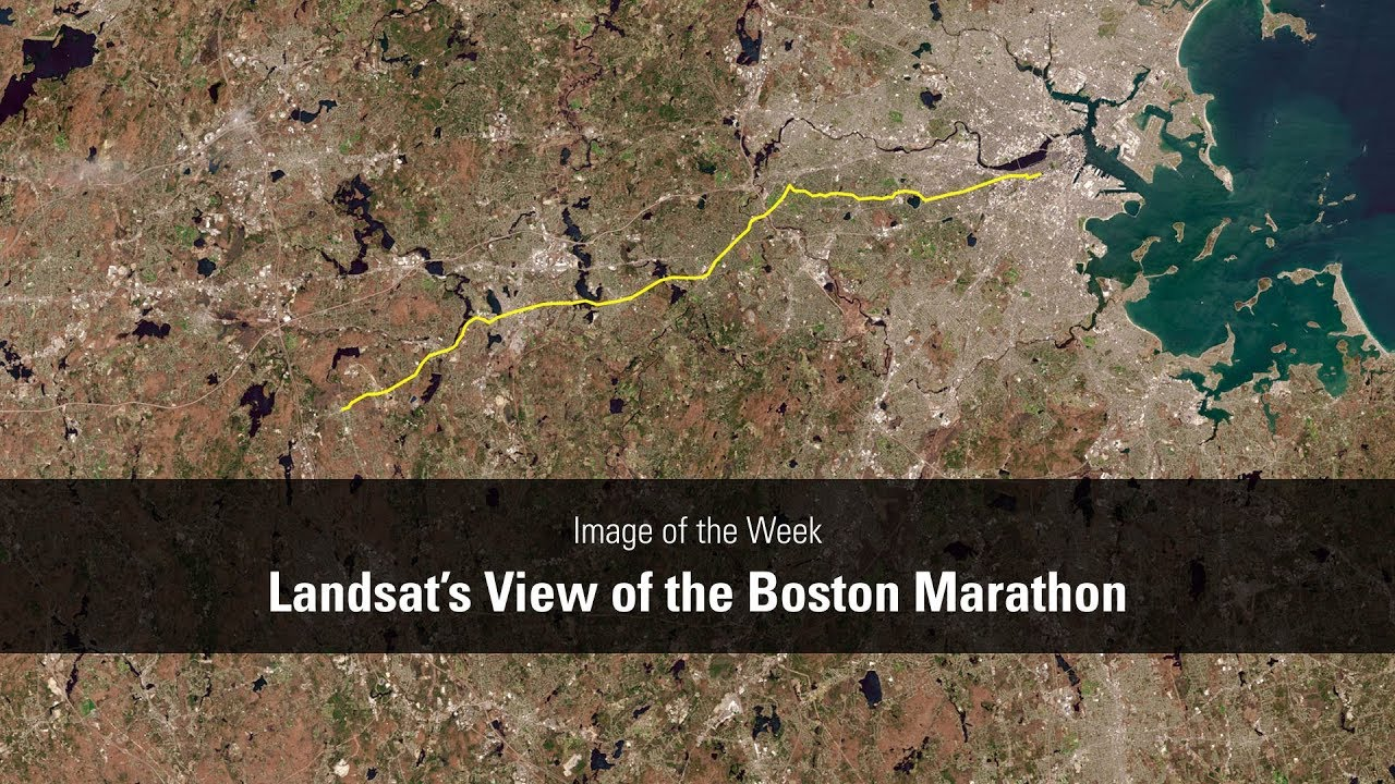 Landsat's View of the Boston Marathon