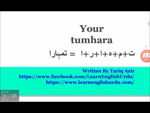 """How To Pronounce """"Your"""" in Urdu ! Urdu Accent and Pronunciation Training"""