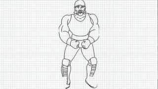 Hulk Hogan - How to draw Hulk Hogan - Video - Hulk Hogan from WWE