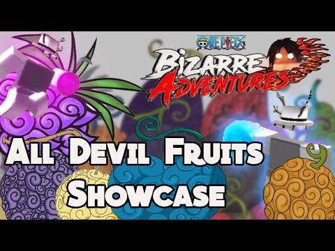 All Devil Fruits SHOWCASE!   MOVES   MAX DF   ONE PIECE BIZARRE ADVENTURES - Roblox
