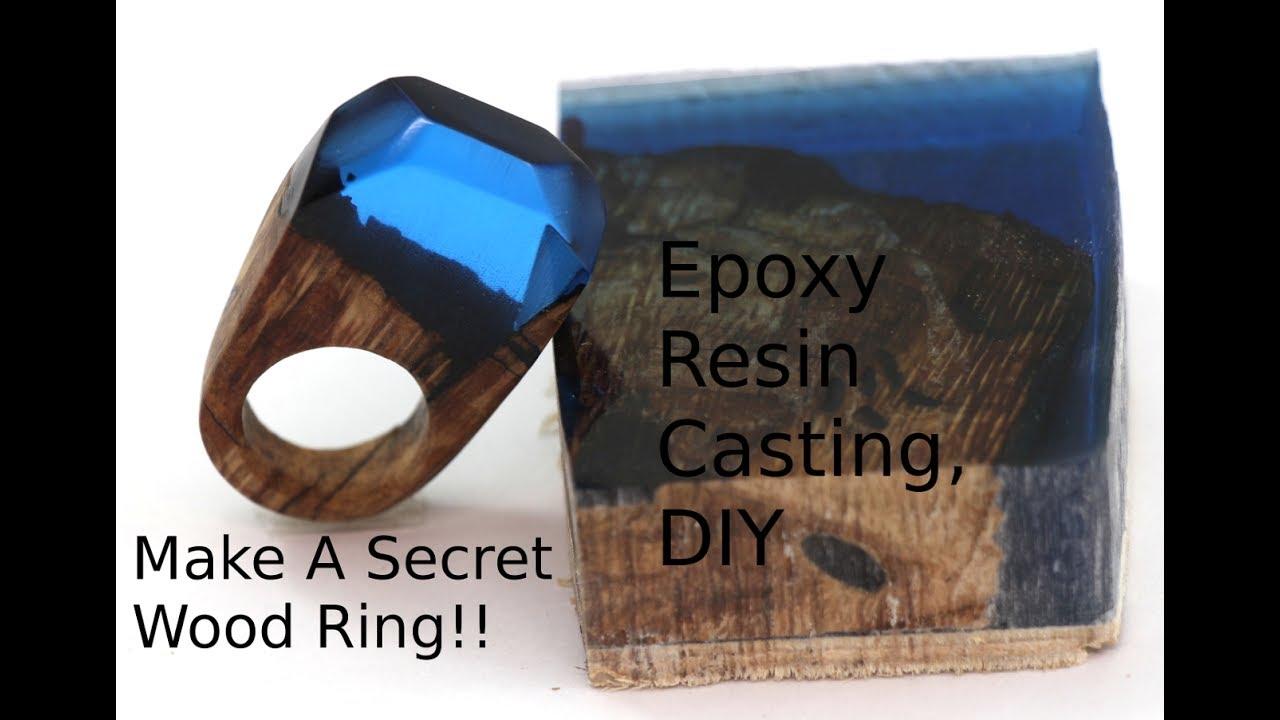 Diy Secret Wood Ring Casting Epoxy Resin Wood Ring Youtube