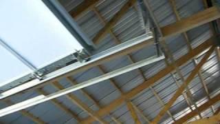 Keener Metal Building - Ceiling Before