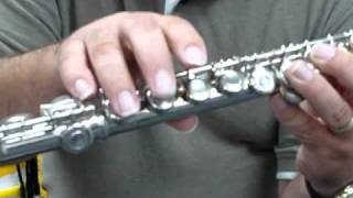 How to hold the flute and play the note D