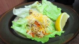 Easy Fresh And Tangy Chicken Lettuce Cups