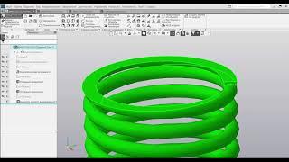 КОМПАС-3D: Механика. Проектирование пружины