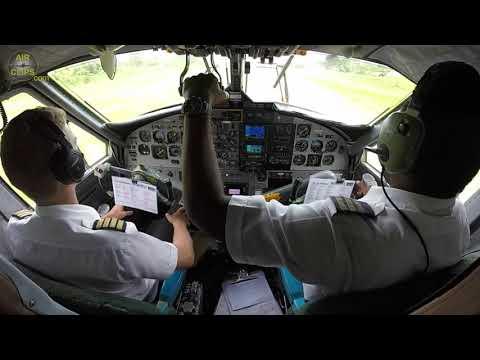 Amazing Vanuatu Jungle Island Strip Landing on Dash 6 Twin Otter! [AirClips]