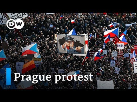 Prague protesters demand