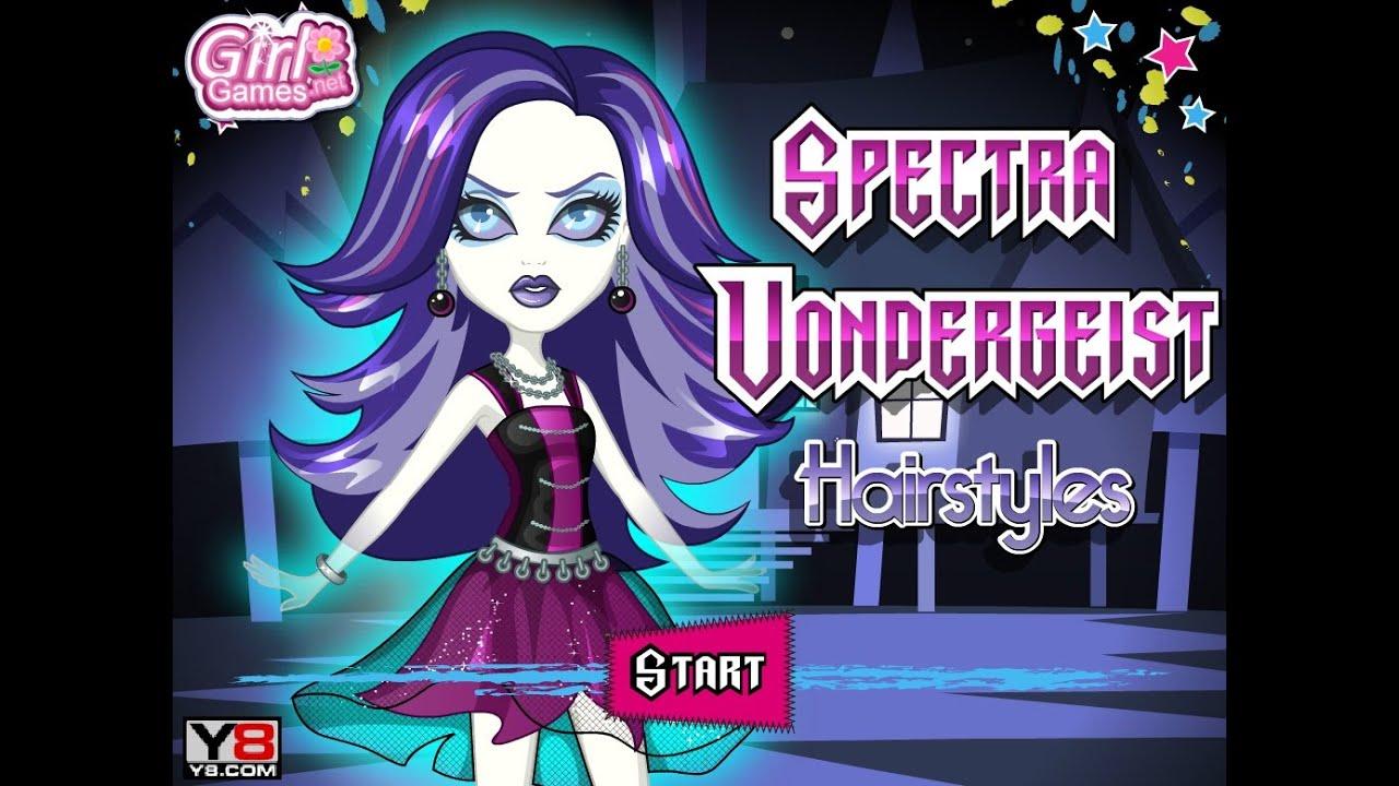 Monster High Spectra Vondergeist Hairstyles Games For Kids Gry Dla Dzieci