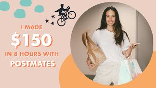 I Made $150 in 8 Hours with Postmates | Aja Dang Side Hustles